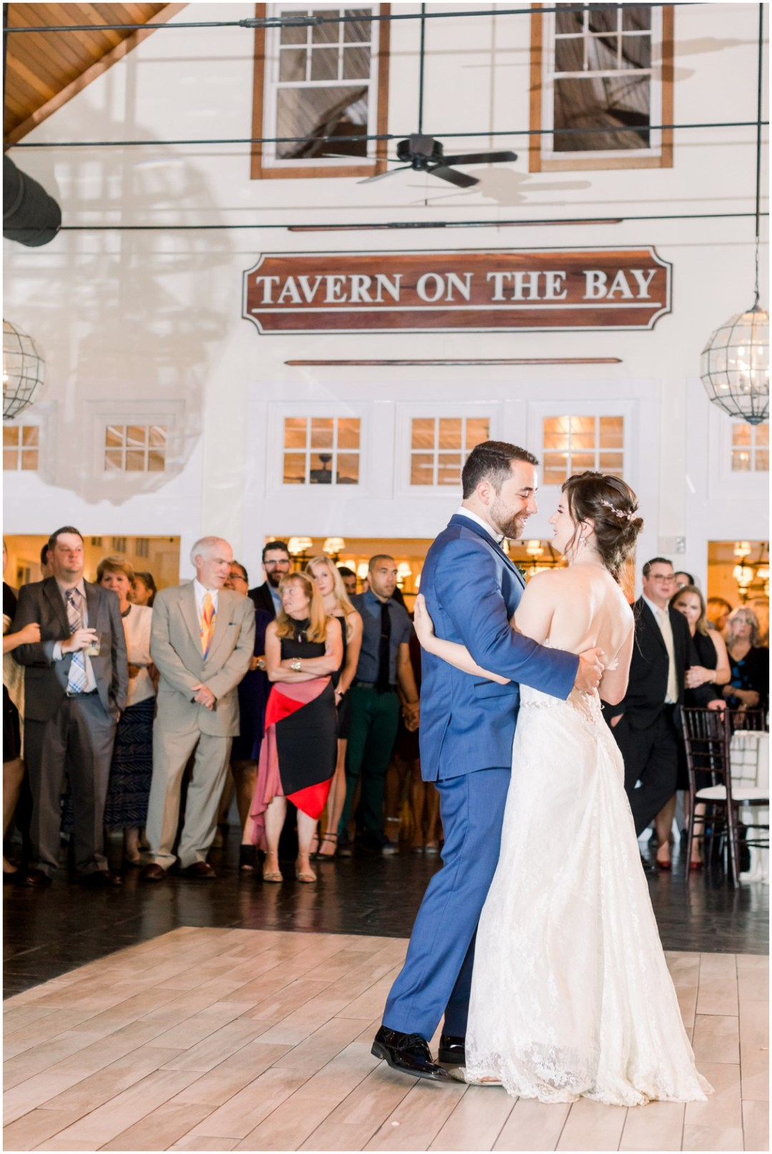 Bride and groom dancing at wedding reception at the Chesapeake Bay Beach Club. | My Eastern Shore Wedding |