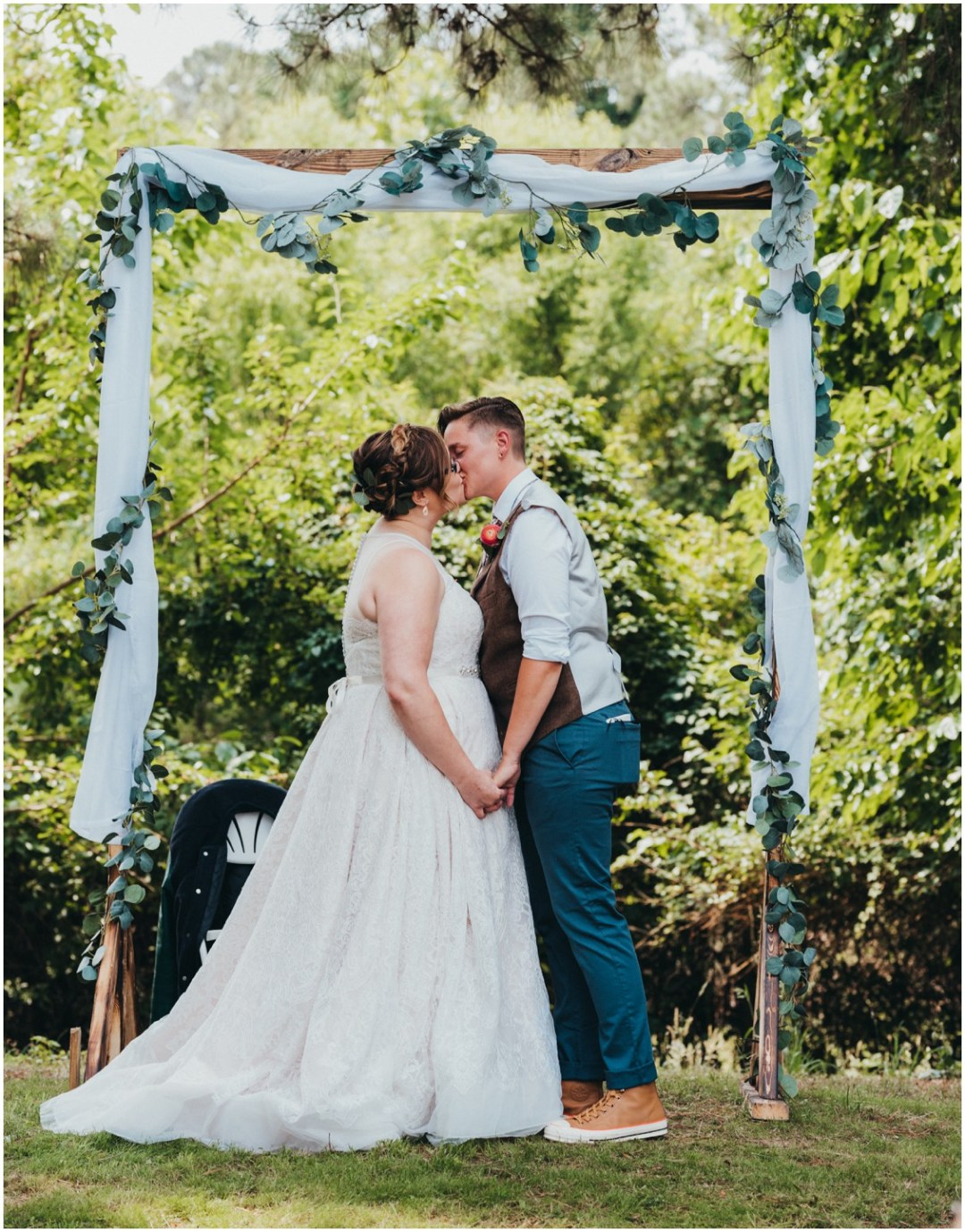The kiss at the end of the ceremony. | My Eastern Shore Wedding |