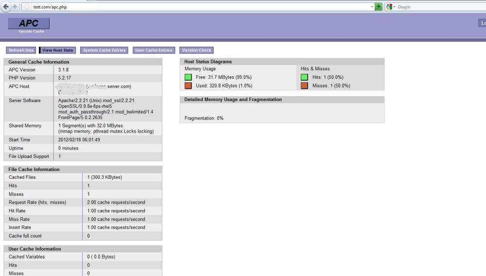 Enabling APC on cPanel server