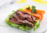 Hanger Steak and Roasted Sweet Potatoes