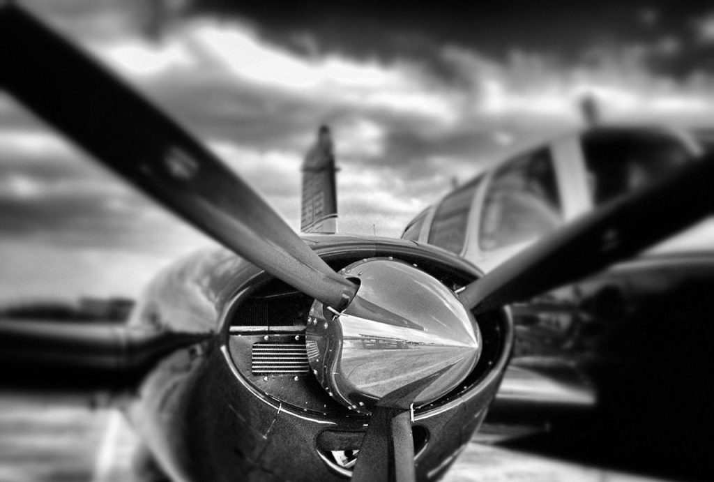 propeller, airplane, aircraft