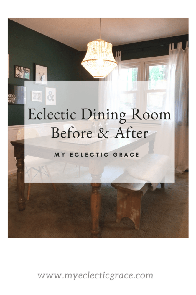 Eclectic Dining Room Makeover • My Eclectic Grace