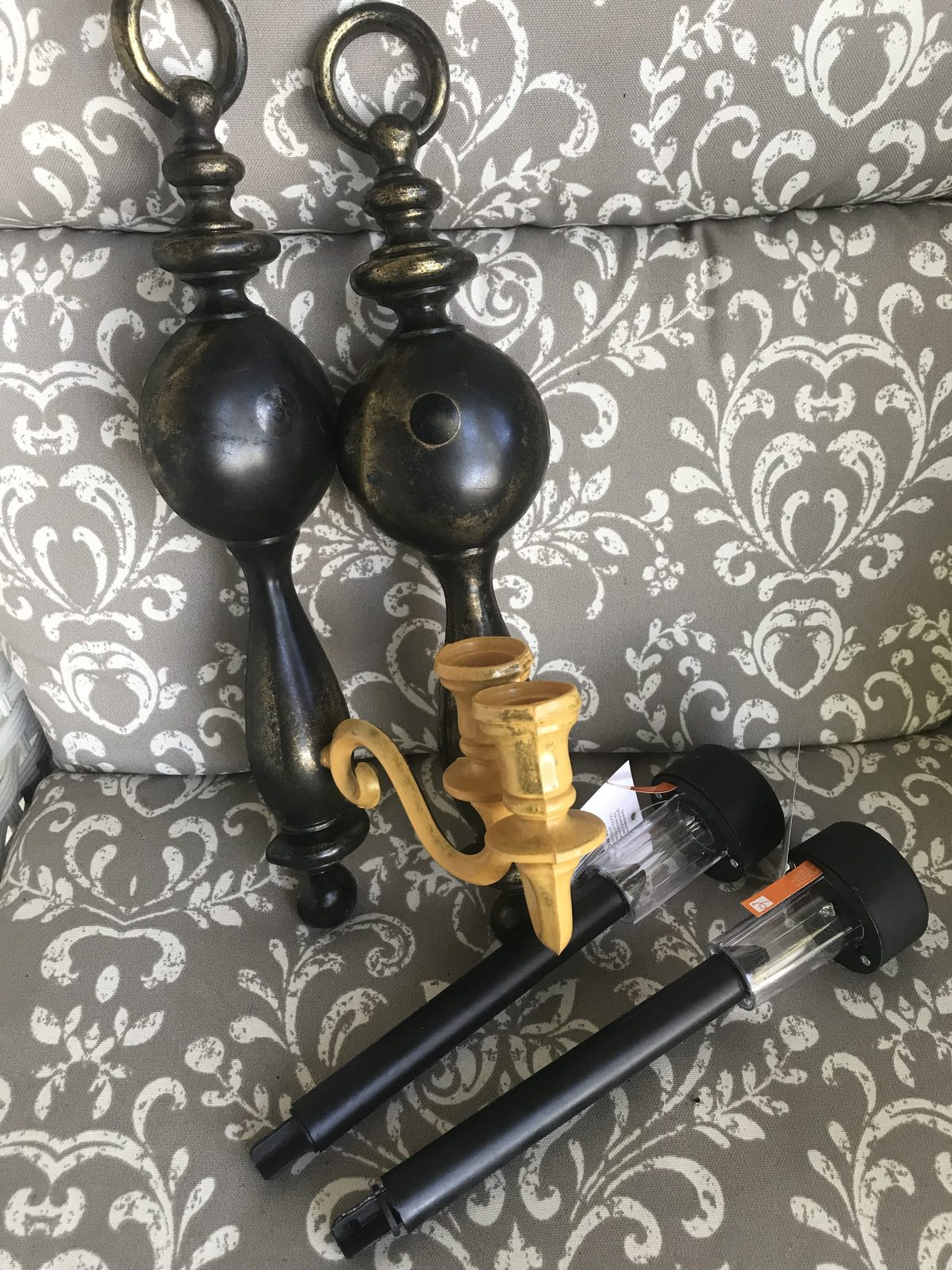 Candle holder sconces and solar lights