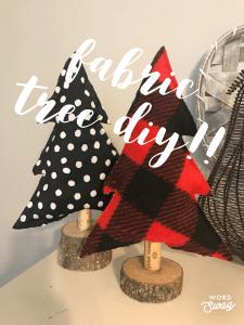 Fabric Christmas Trees DIY!