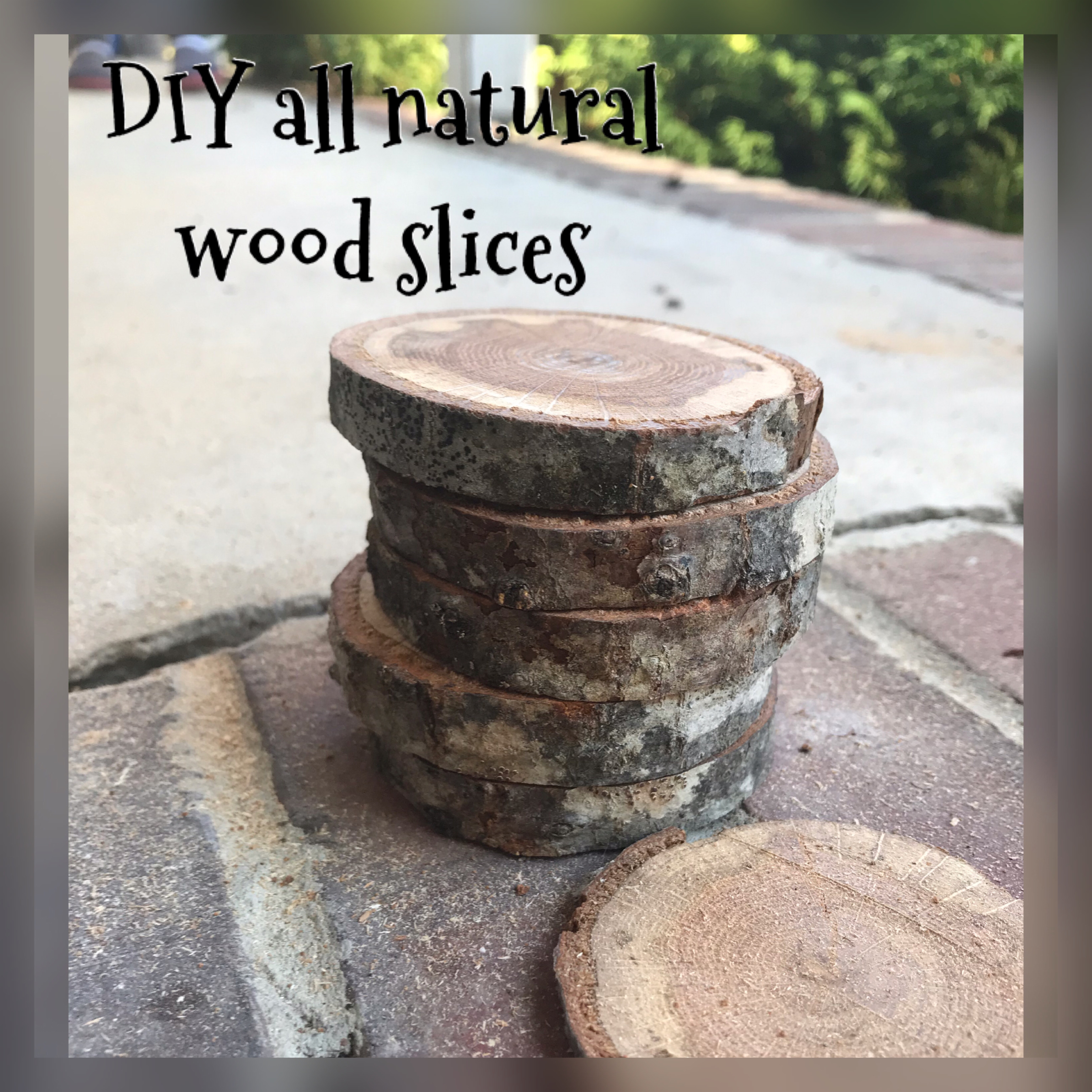 DIY All Natural Wood Slices