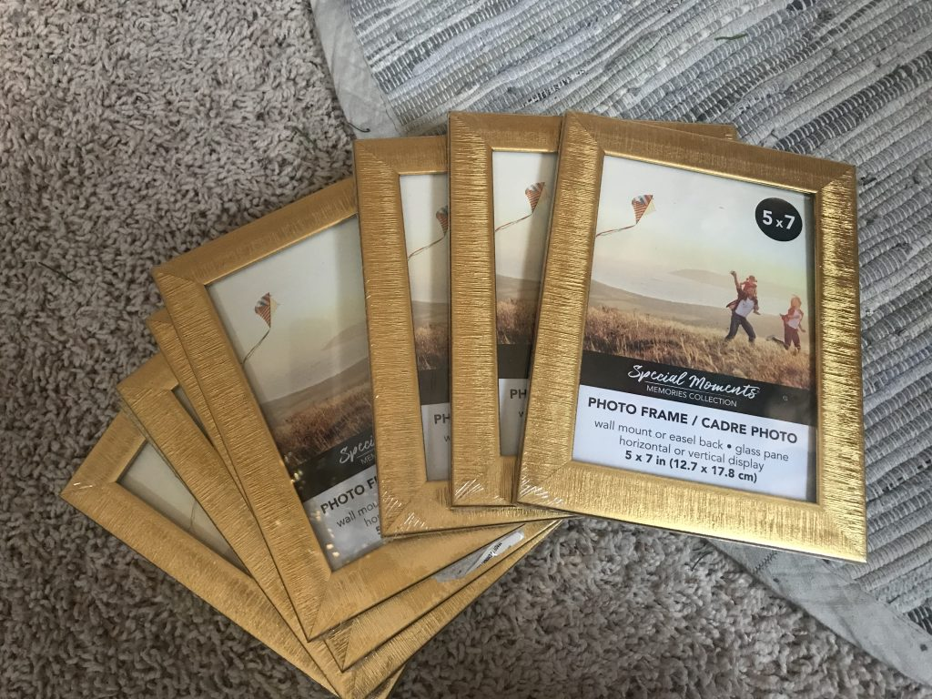 5x7 Dollar Tree picture frames