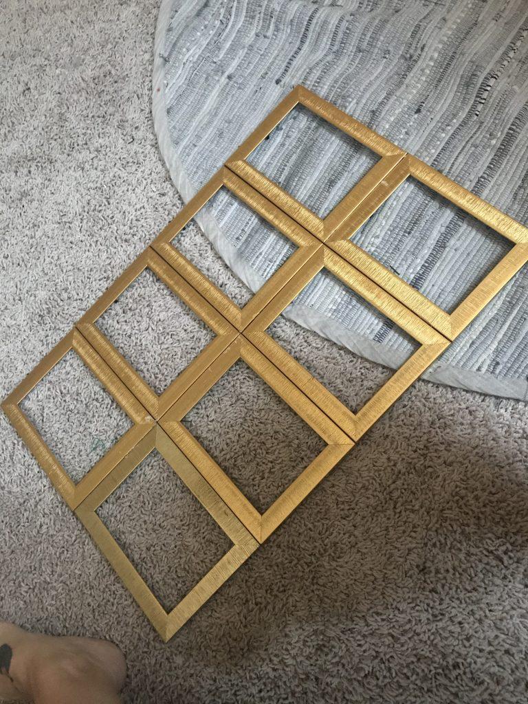 Dollar tree frames glued together