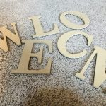 wooden letters for welcome sign