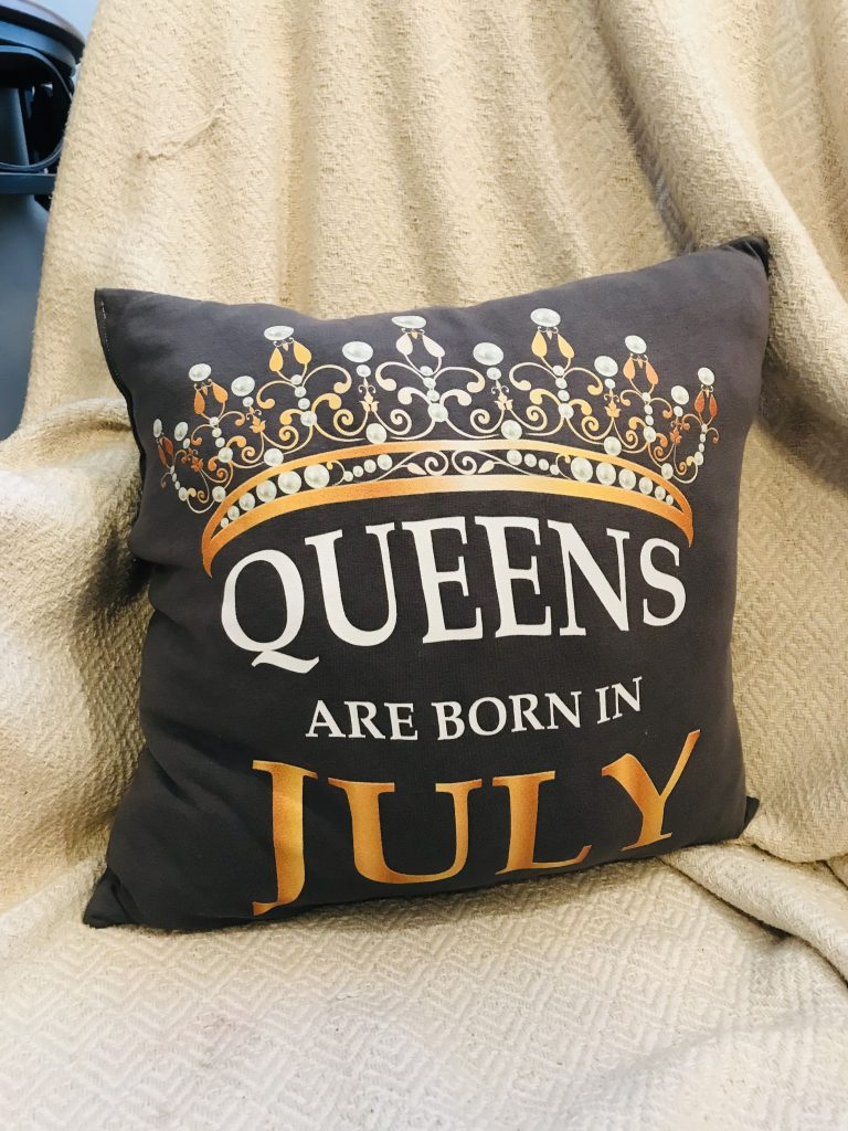 throw pillow made from t-shirt