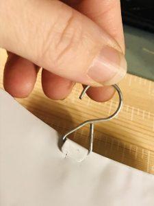 hanger from a metal garden spike