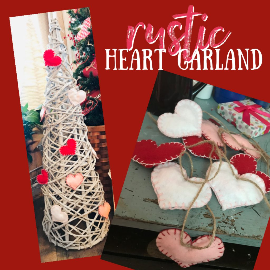 felt heart garland wrapped around a grapevine tree top ten valentines