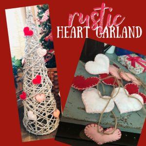 Felt Heart Garland Valentine's Craft