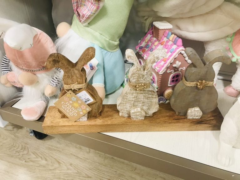 wooden bunnies from homegoods