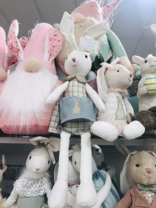 fabric easter bunny rabbit decor