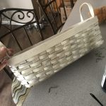 white spray painted basket