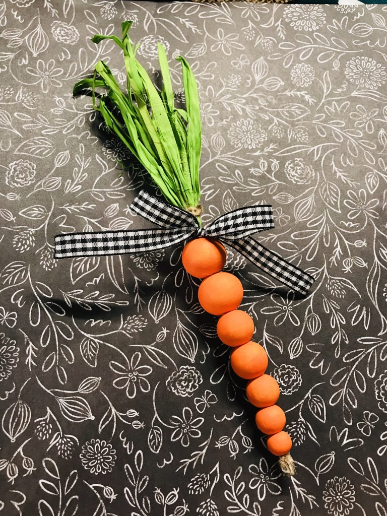 wood bead carrot