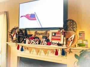 Read more about the article Patriotic Mantel Decor Ideas