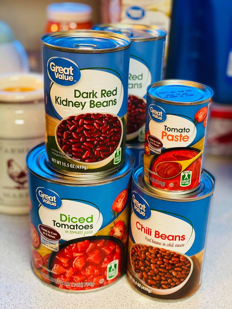 canned beans for chili