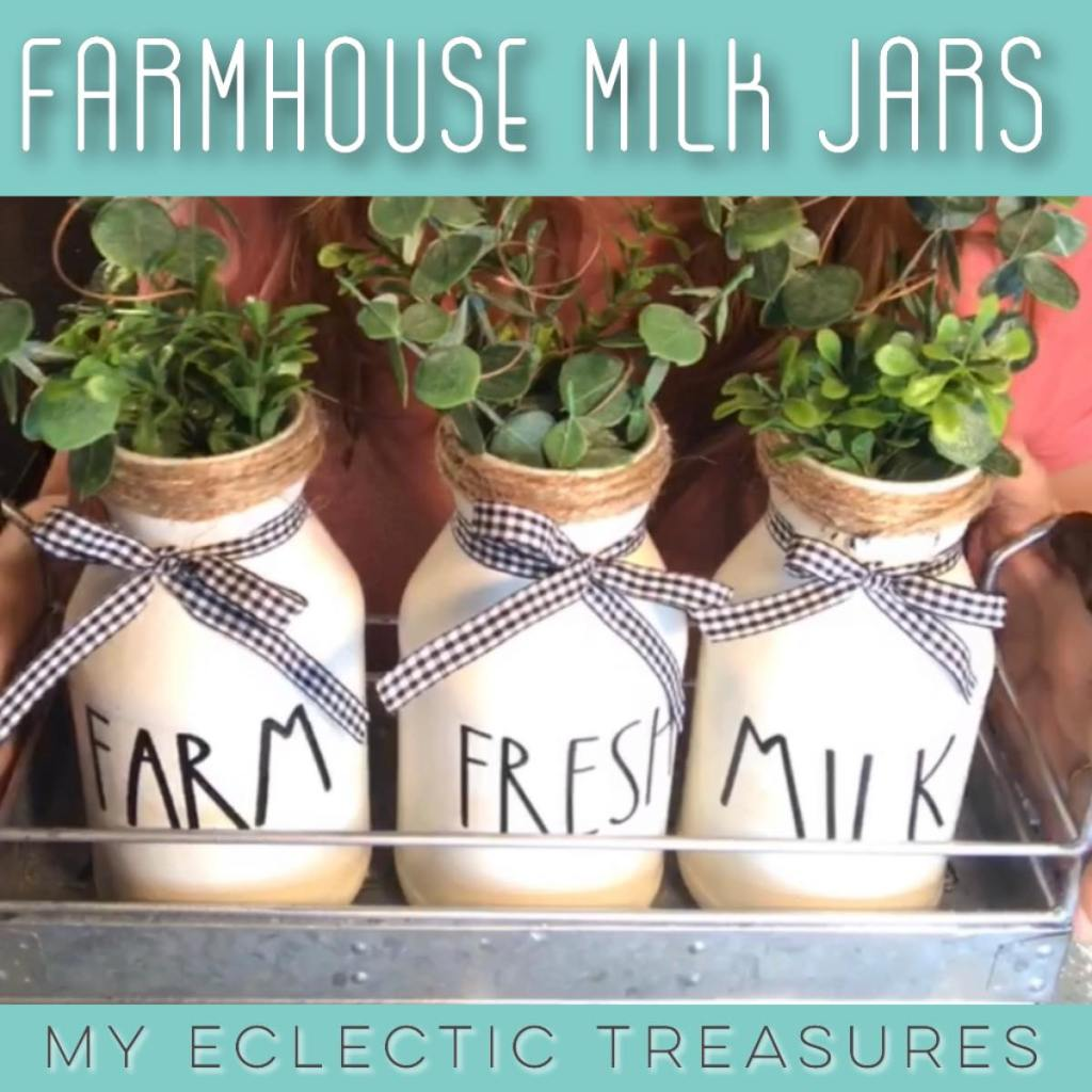 farmhouse milk jars
