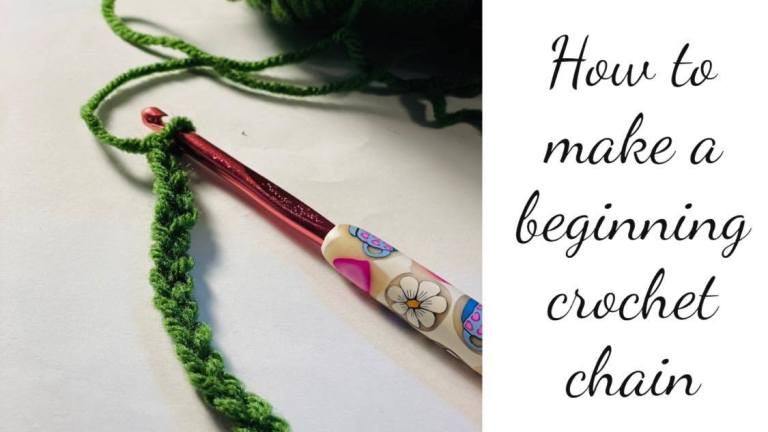 how to make a beginning crochet chain
