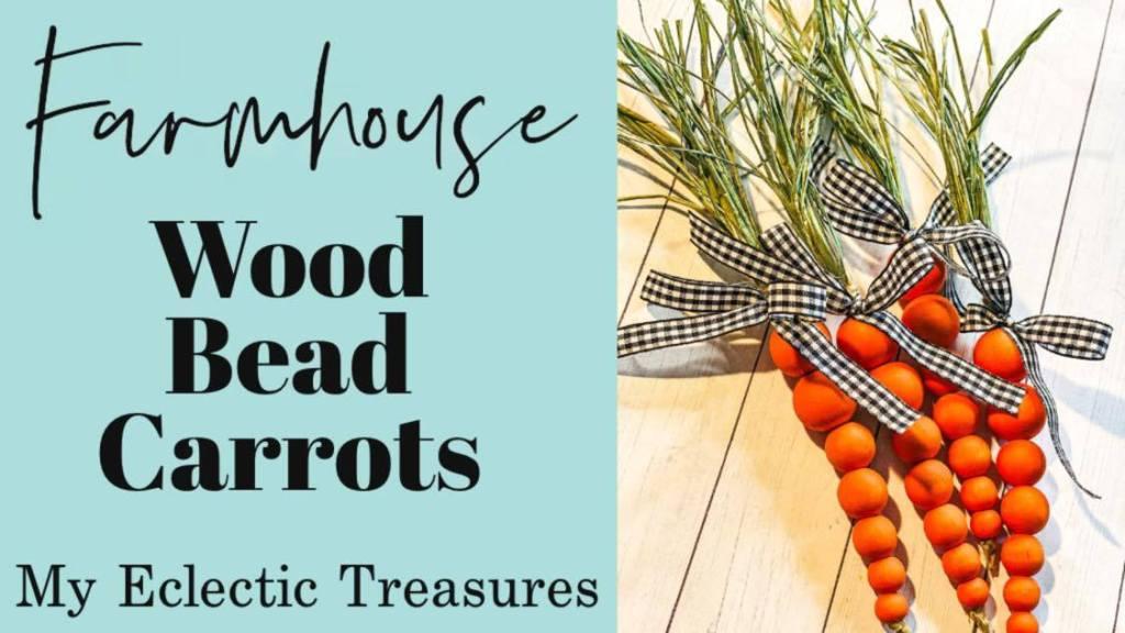 Wood Bead carrots video tutorial