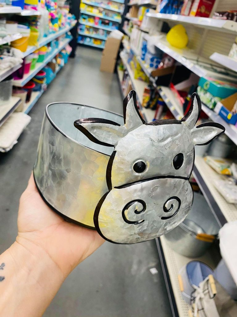 metal cow container | #dollargeneralkitchen