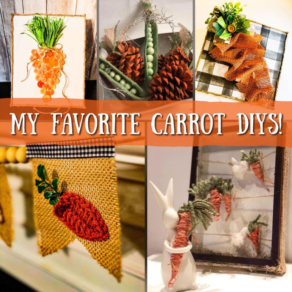 my favorite carrot diys | carrot craft ideas | carrot decor | #carrotideas #springcarrots