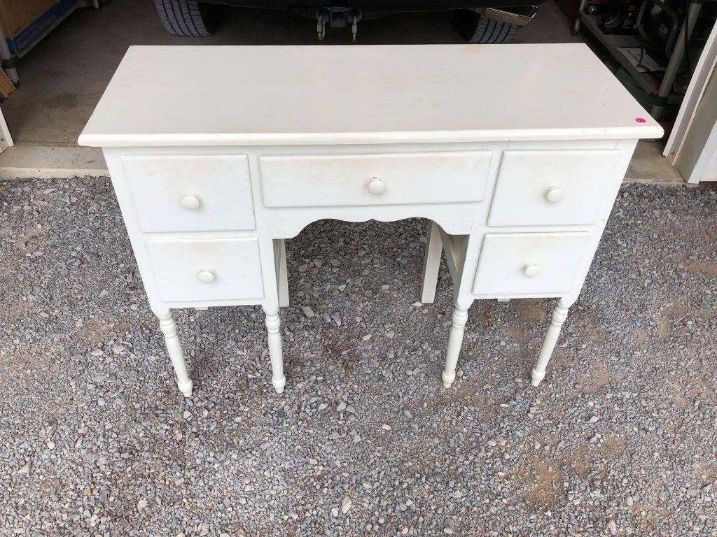 vintage white vanity table