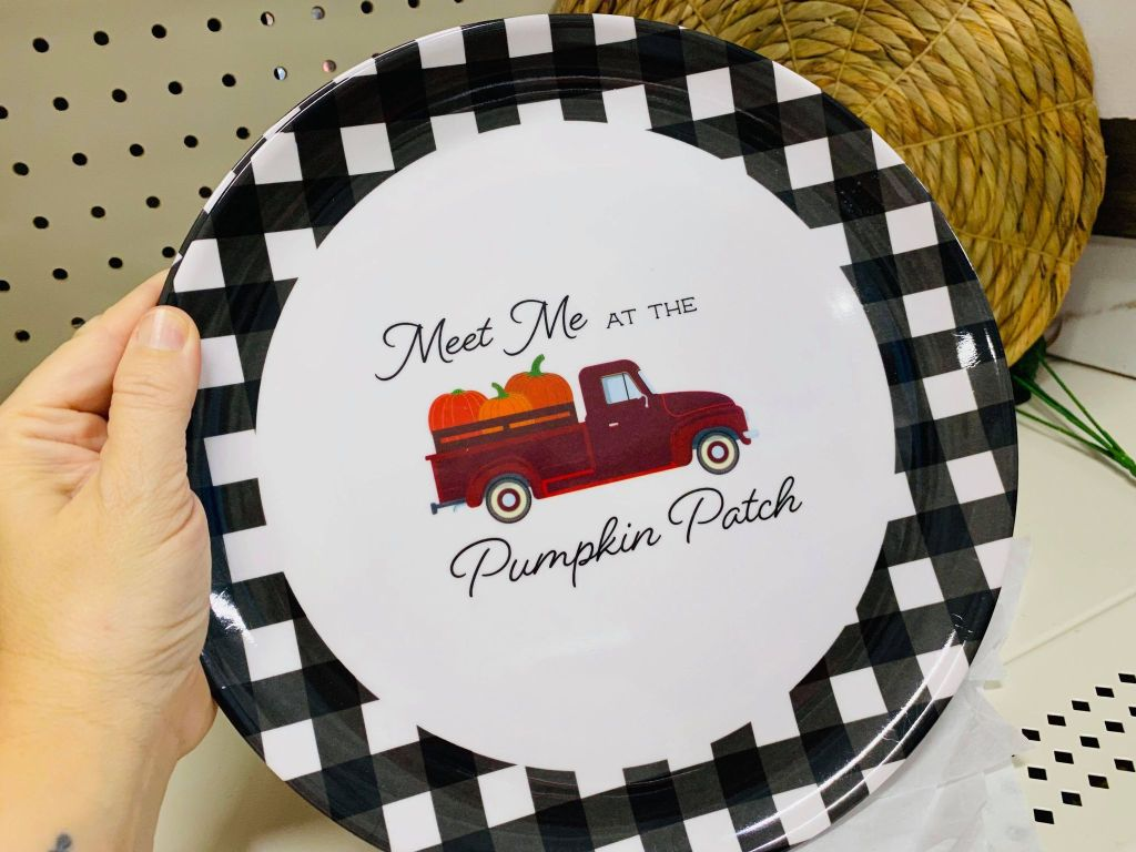 melamine fall truck plates from the Dollar General