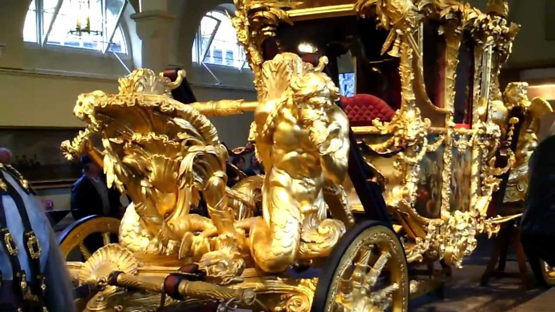 The Queen's solid gold coach.