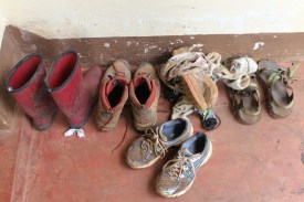 Shoes on the Porch.