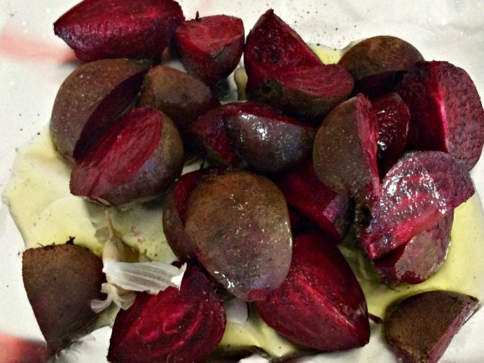 Beetroot ready for roasting