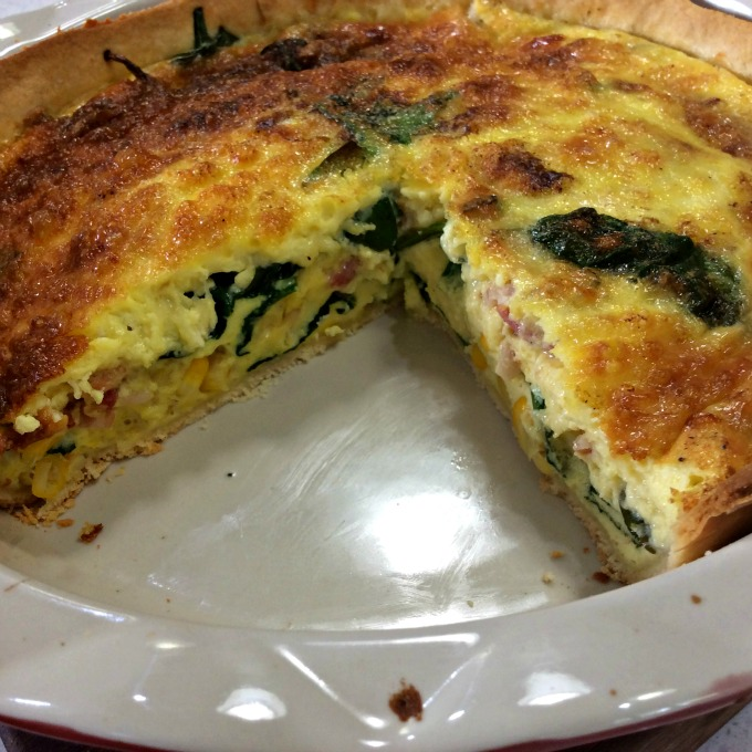 Quiche sliced