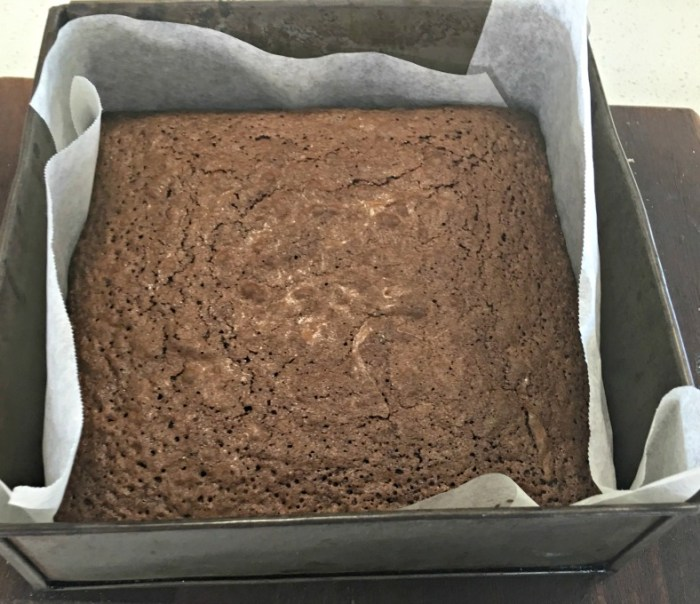 Coconut Chocolate Brownie - fresh from the oven