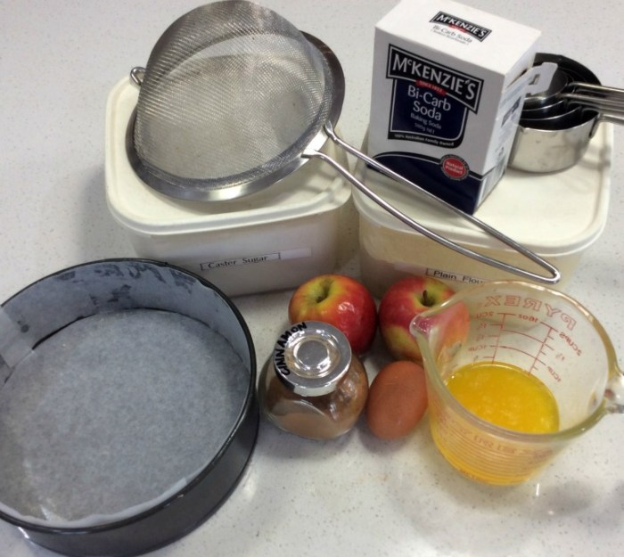 Apple Cinnamon Cake Ingredients