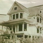 The house during construction in 1895.