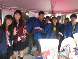Sister City students at the market in 2011.