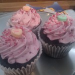 Frosted cupcakes at Nama's Candy.