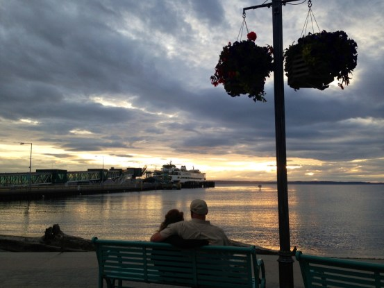 From David Carlos, a couple enjoys the sunset Wednesday.