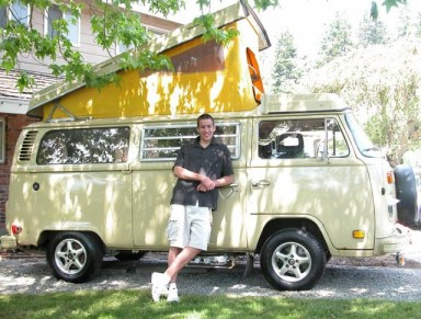 Stuart Zickefoose with his VW bus.