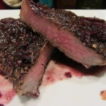 My steak is cooked to my liking, about medium to medium-well. Enjoy!