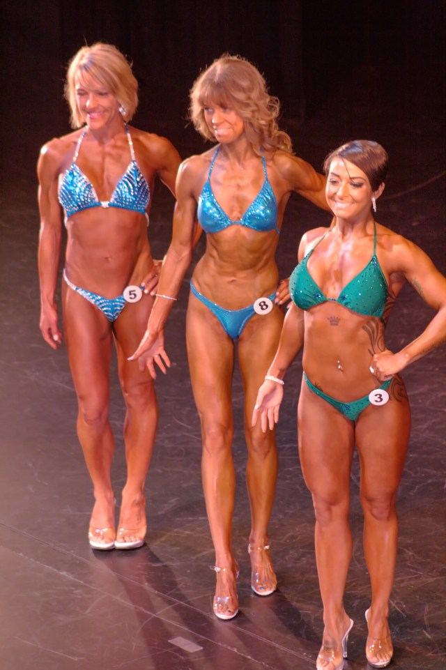 Figure Beginner Short Class, identified by number: 3 - Devi Laidley, 5 - Clover Newman, 8 - Cheryl Fox.