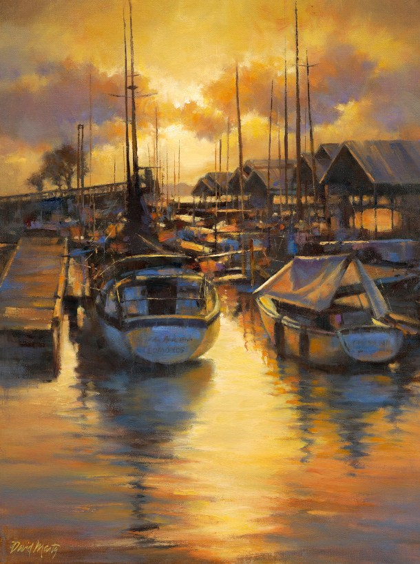 """Evening at the Marina"" by David Marty."