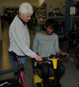 The MSHH Donor Closet provides medical and mobility equipment to people for a minimum suggested donation.