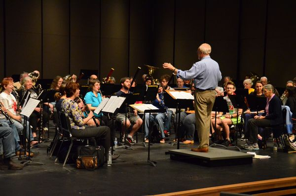 Earling conducting Monday at Shorewood High School.