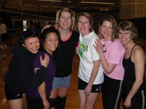 Pictured from left are Linda Coburn, Julianne Tosaya, Arlene Murphy, Hilary Gould, and Diane Torre. All but Murphy (too young) and Gould (injured) will be competing in the Washington Senior Games.