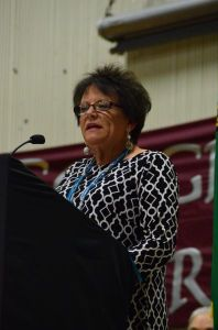 Scriber Principal Kathy Clift congratulated the graduating seniors, noting that this year's class size, 48 graduates, is the largest in her tenure as principal.