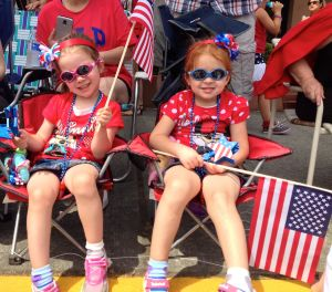 Red, white and blue was the color combination of the day for all ages of parade watchers and participants Friday. (Photos by Caitlin Plummer)