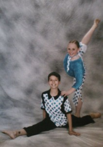 Casey Askew and his friend Kaysea Studioso posing for photos with Camille's Dance Edge in 2005. (Photo courtesy of Lisa Askew)