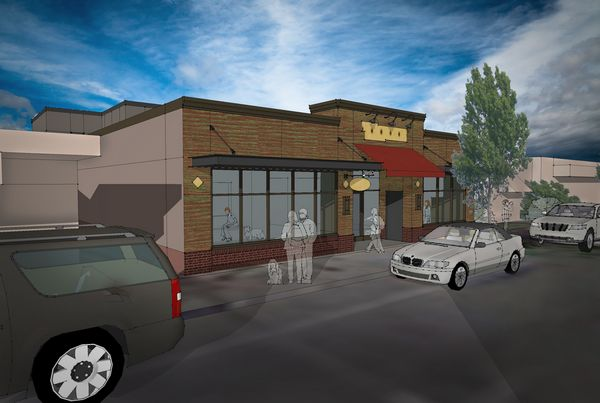 Artist's rendering of the new Fifth Avenue Veterinary Hospital.  The building was designed by the Architectural Werks of Kirkland and will be built by Edmonds-based Wilcox Construction.